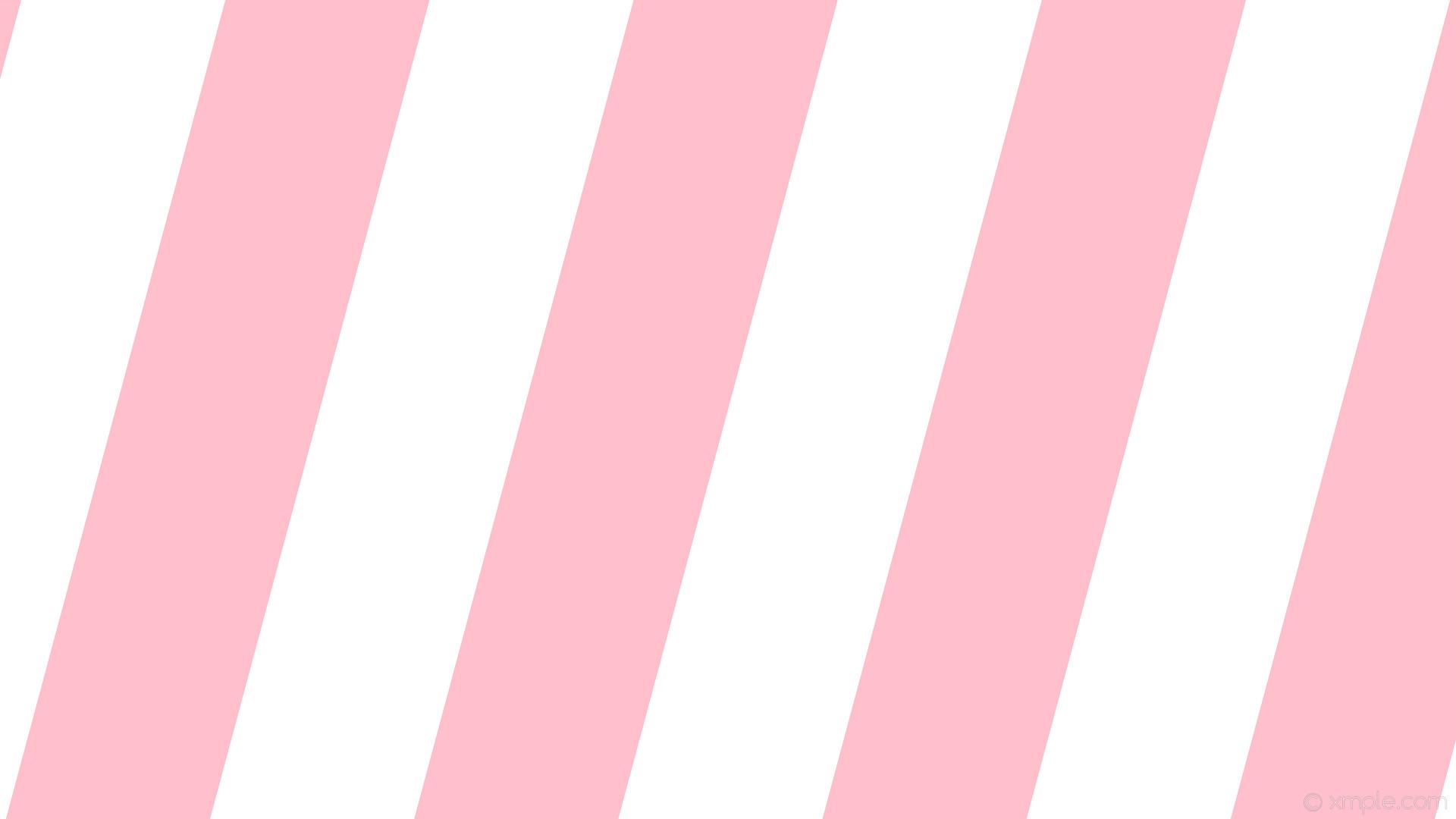 Pink &Amp; White Striped Wallpaper