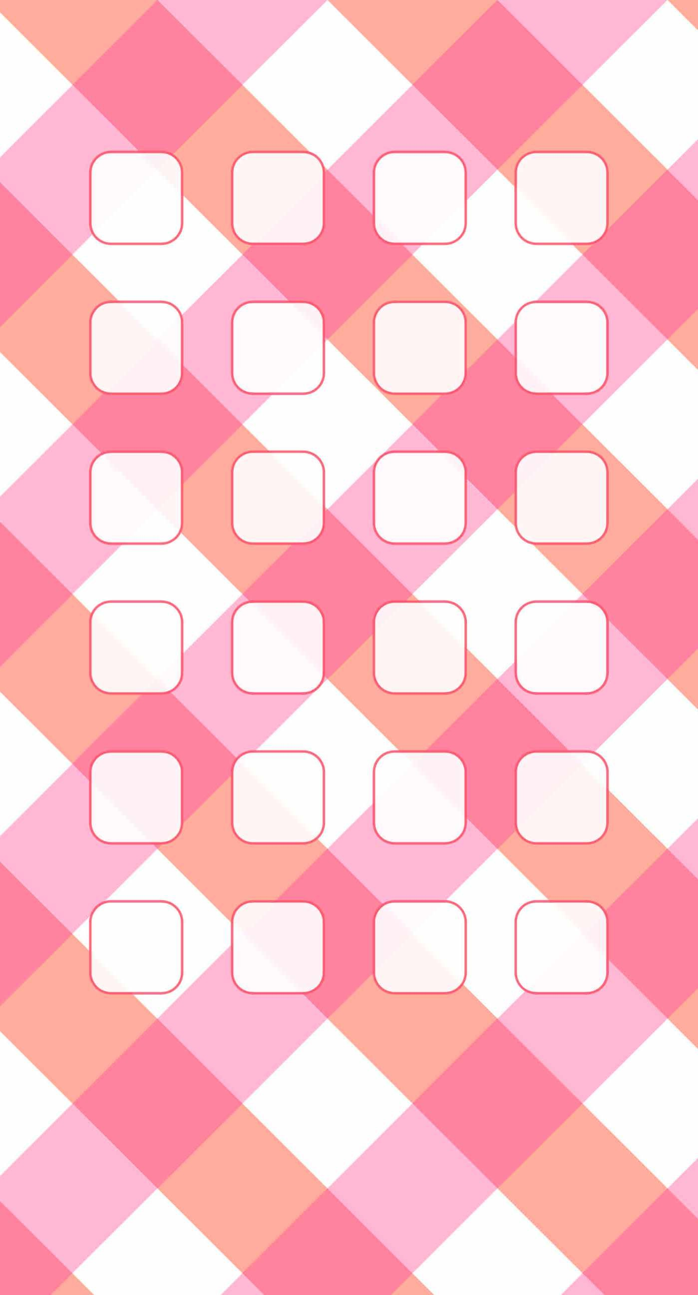 Check pink white shelf pattern for girls iPhone6s Plus / iPhone6 Plus  Wallpaper