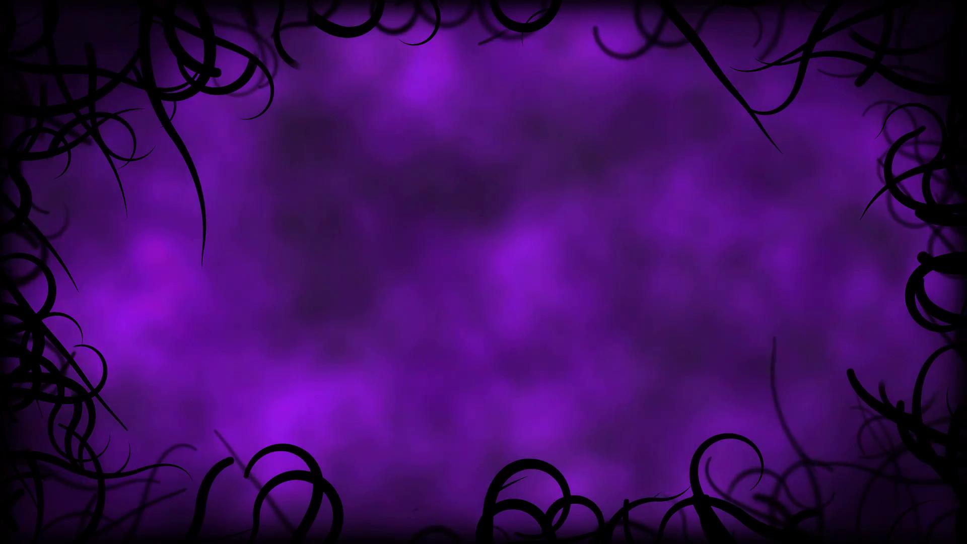 Black Vines Border Background Animation – Loop Purple Motion Background –  VideoBlocks