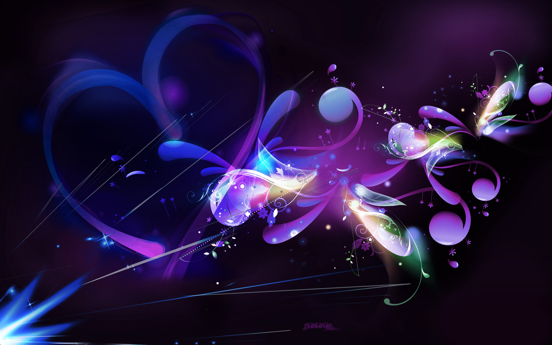 Black and Purple Abstract Wallpapers