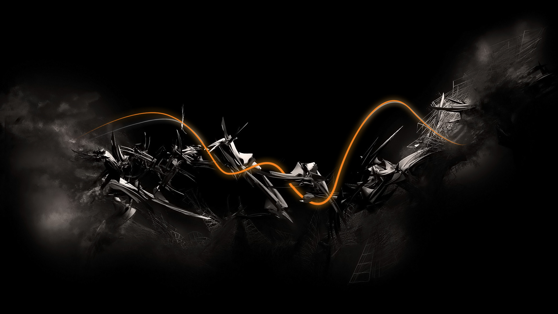 Black Abstract wallpaper – 608410