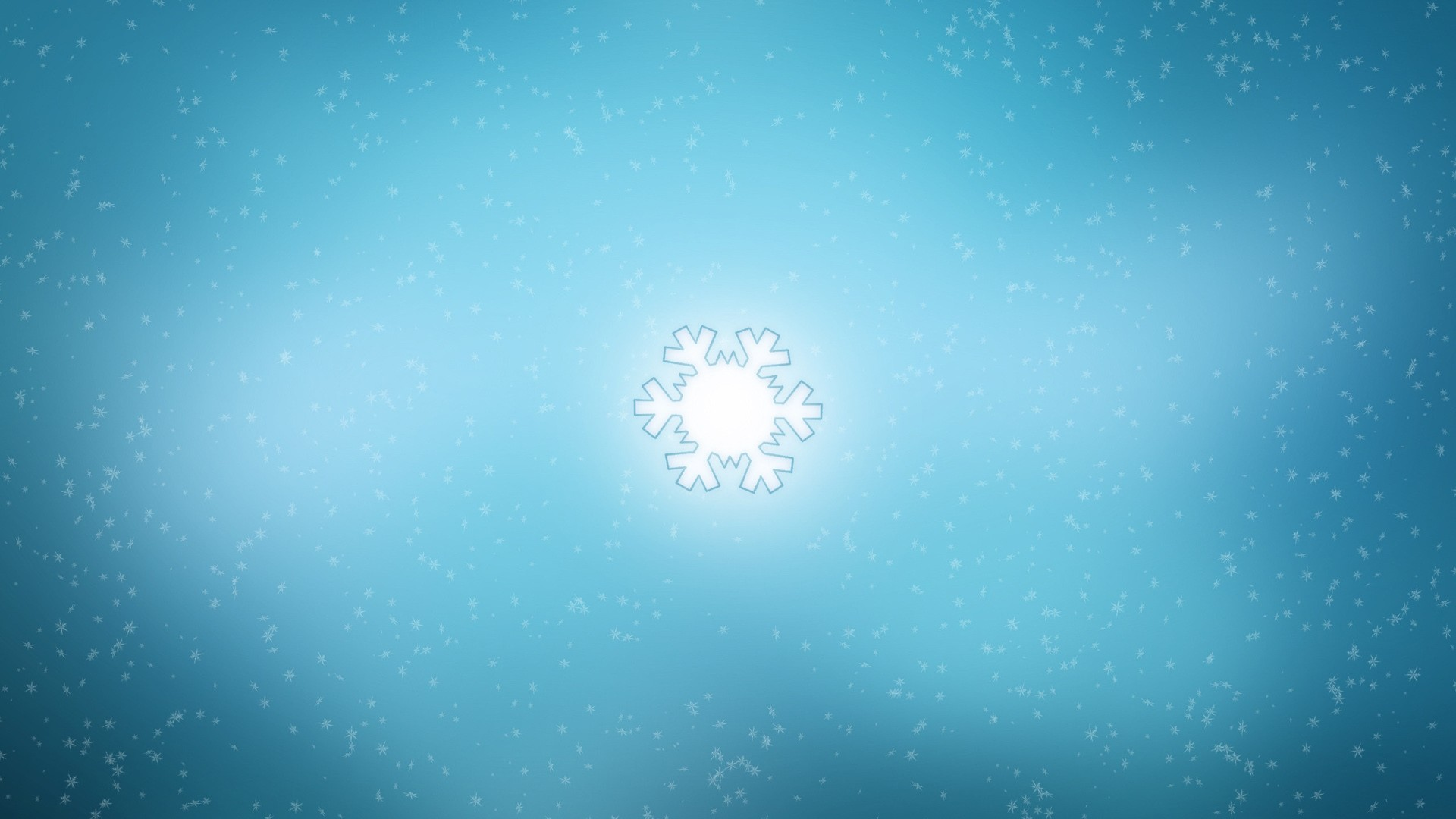 Preview wallpaper snowflake, background, bright, blue 1920×1080