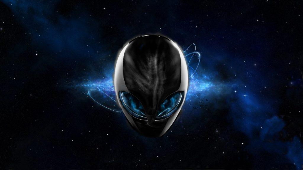 Alienware Desktop Background Blue Space Alienware Head 1920×1080