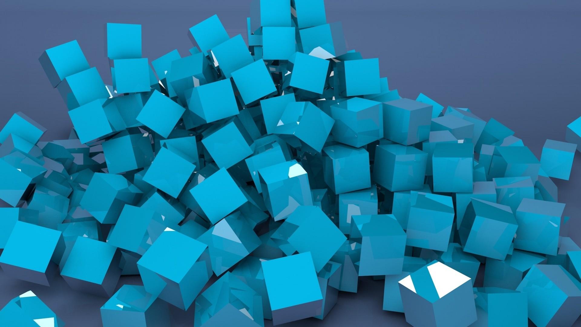 Wallpaper blocks, lots, color, metallic blue