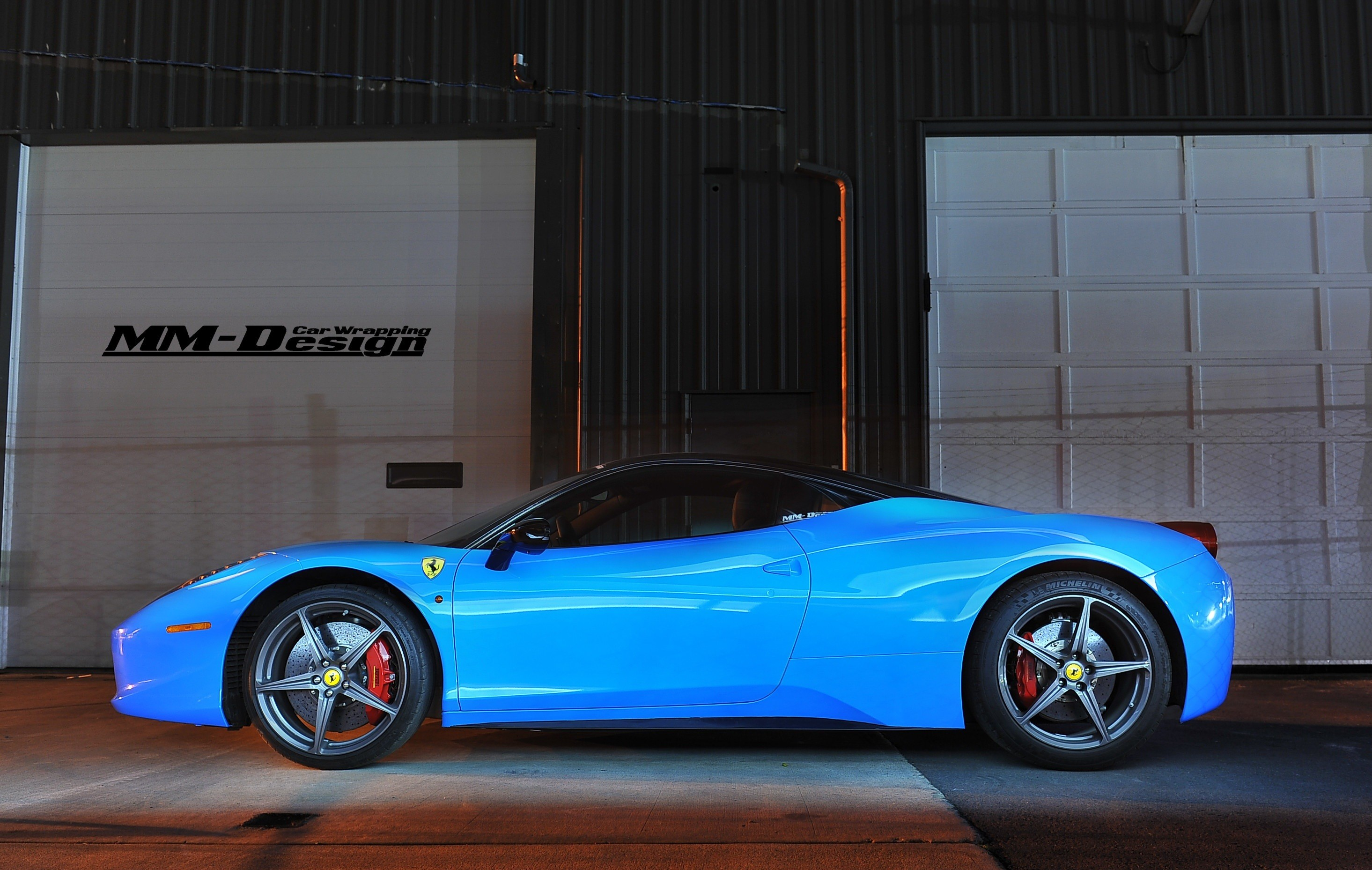 Black And Blue Ferrari 33 Free Hd Wallpaper