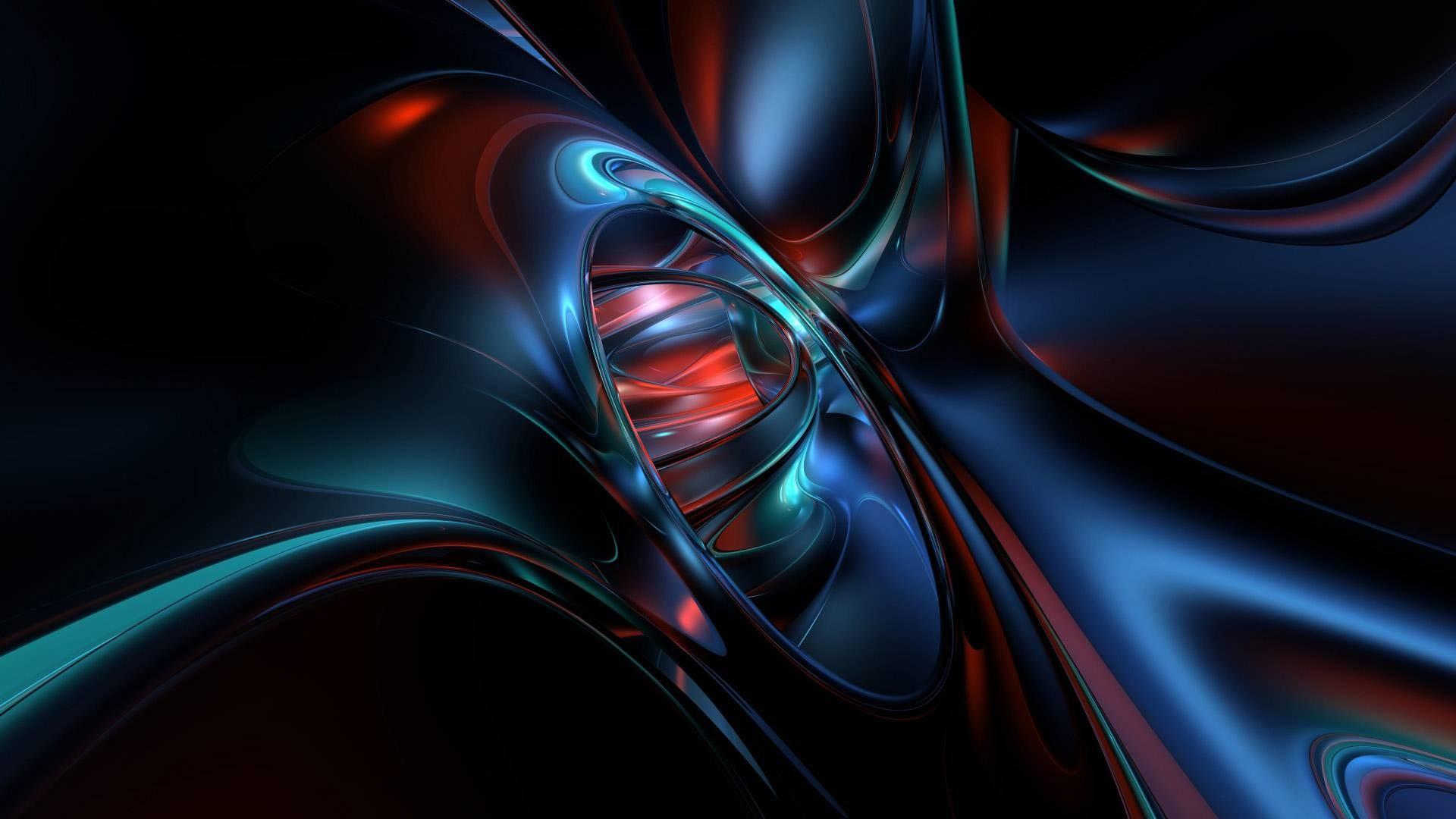 Abstract Metallic Blob Wallpaper