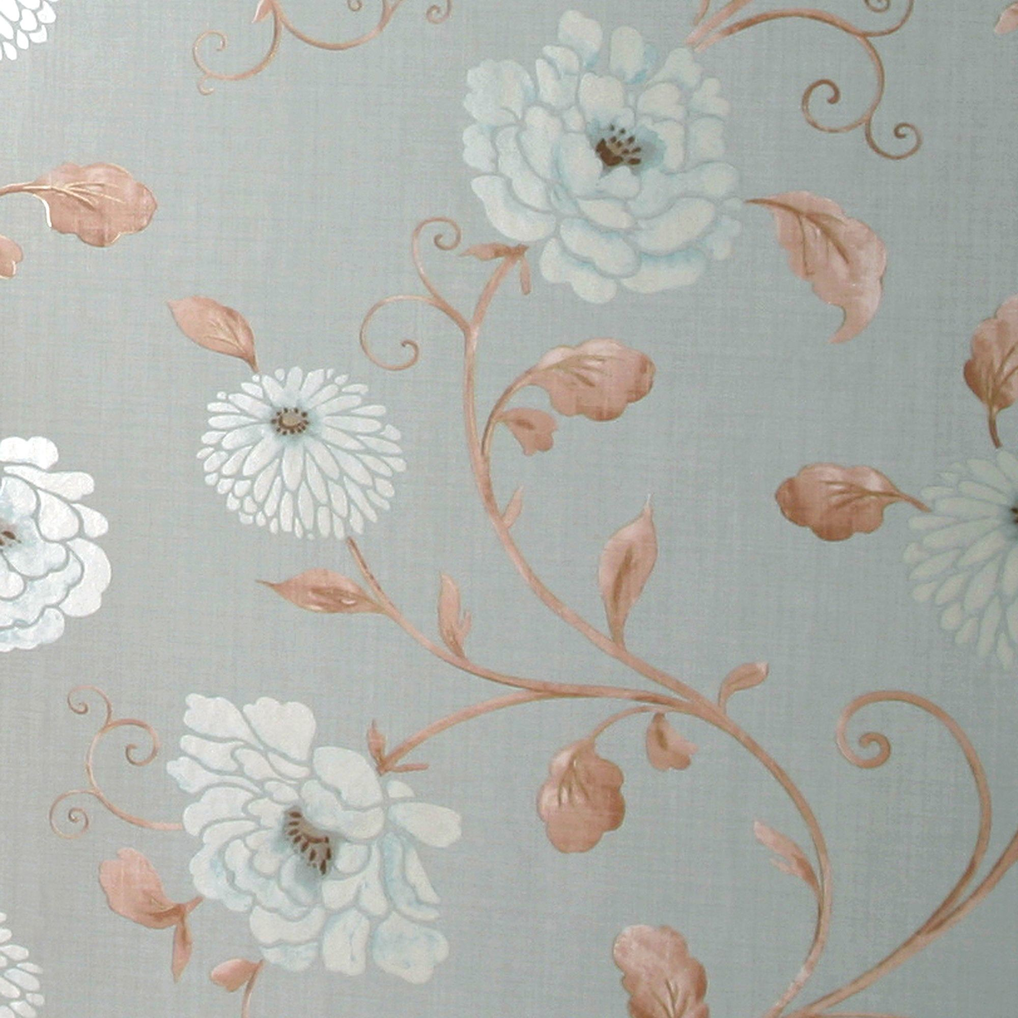 Arthouse Vintage Antoinette Metallic Effect Blue Wallpaper | Departments |  DIY at B&Q