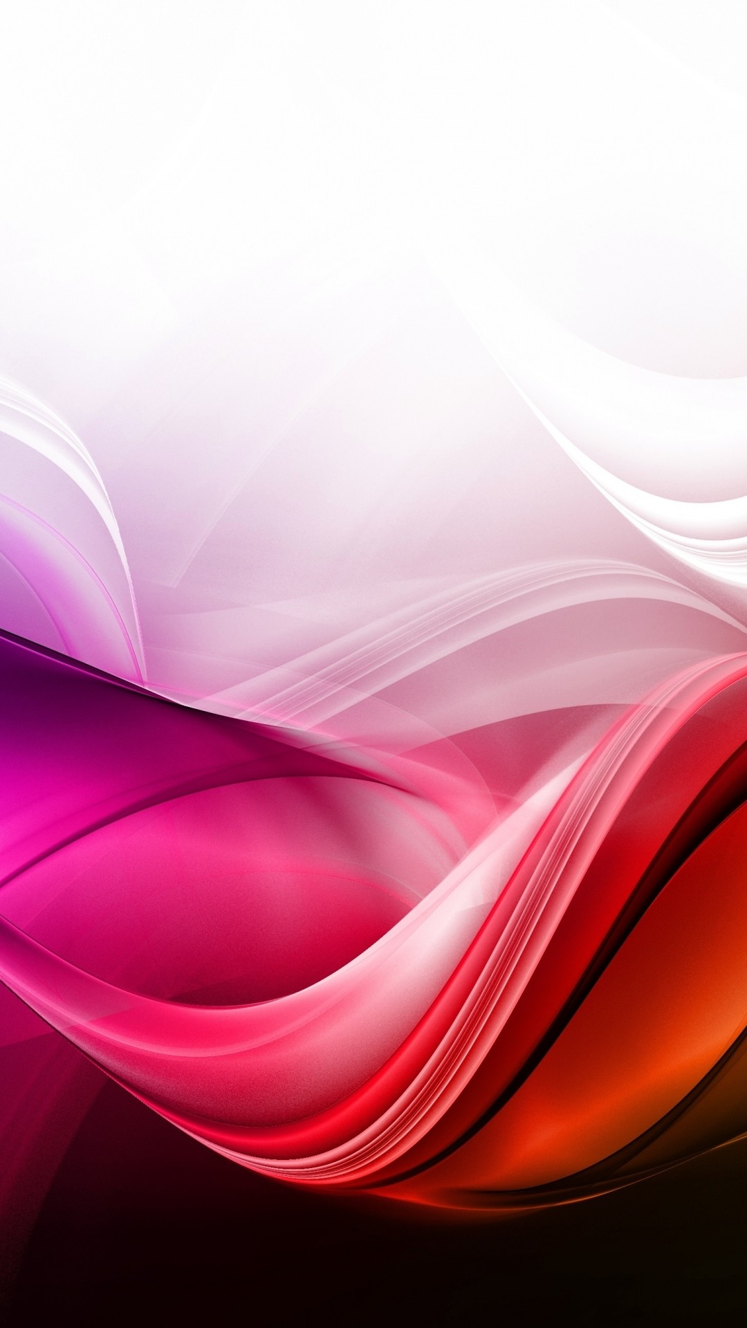 Preview wallpaper waves, background, colorful, lines 1080×1920