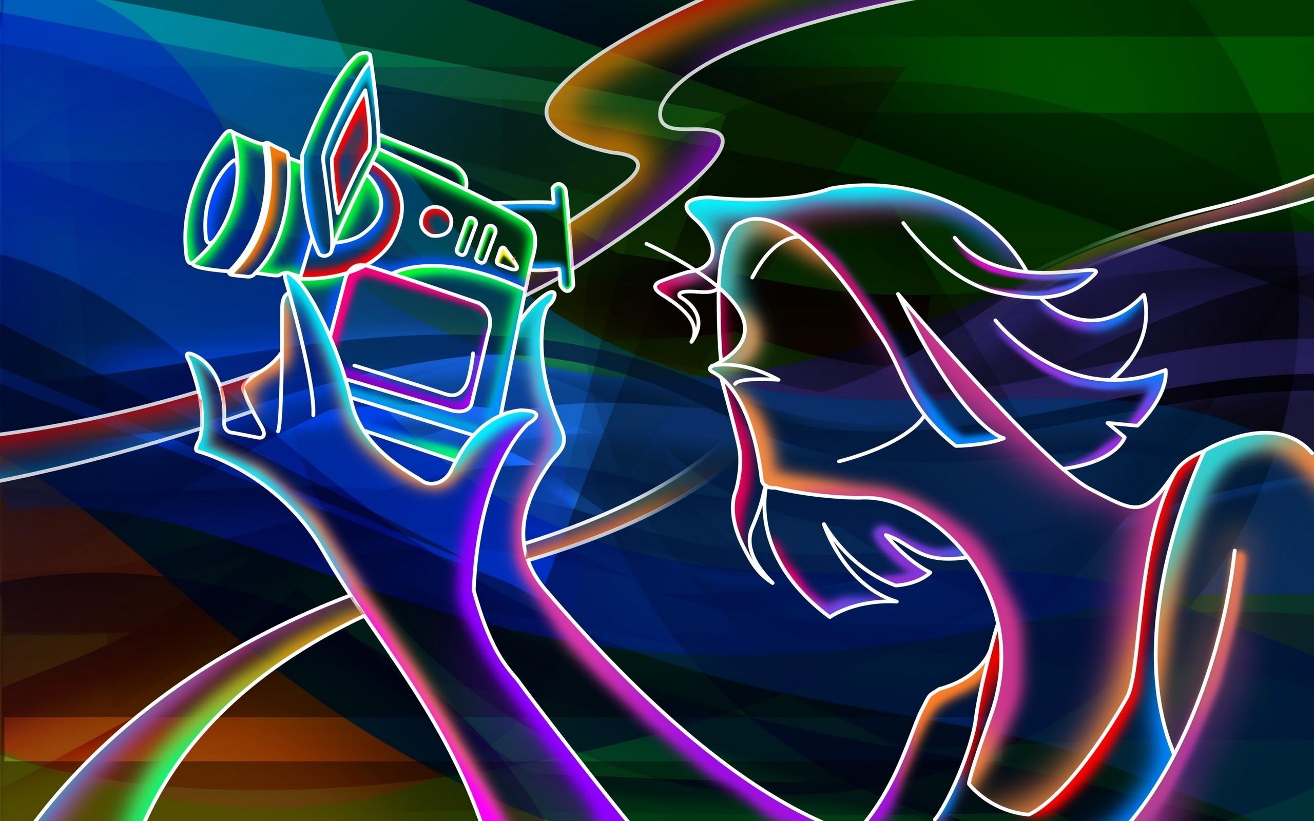 artistic neon Wallpaper Backgrounds