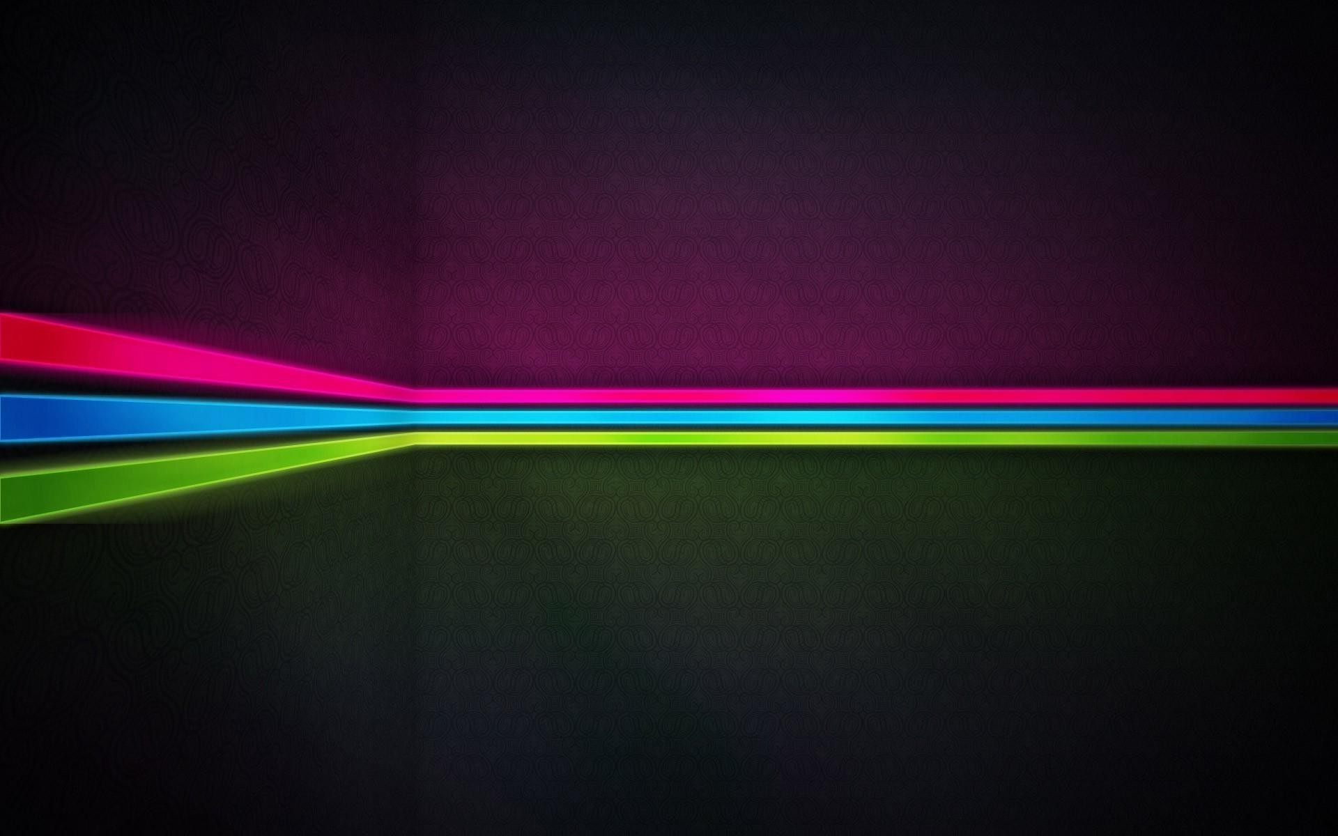 Artistic Lines Neon Wallpaper