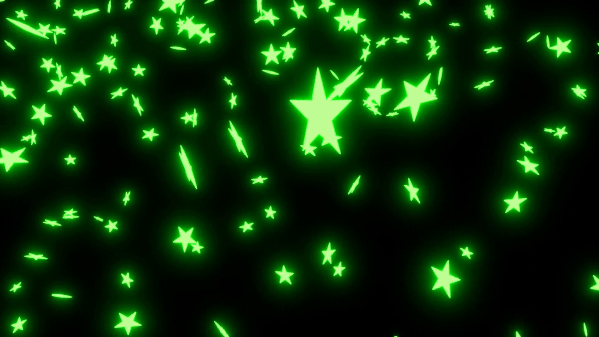 Subscription Library Animated falling neon green stars on black background  2.