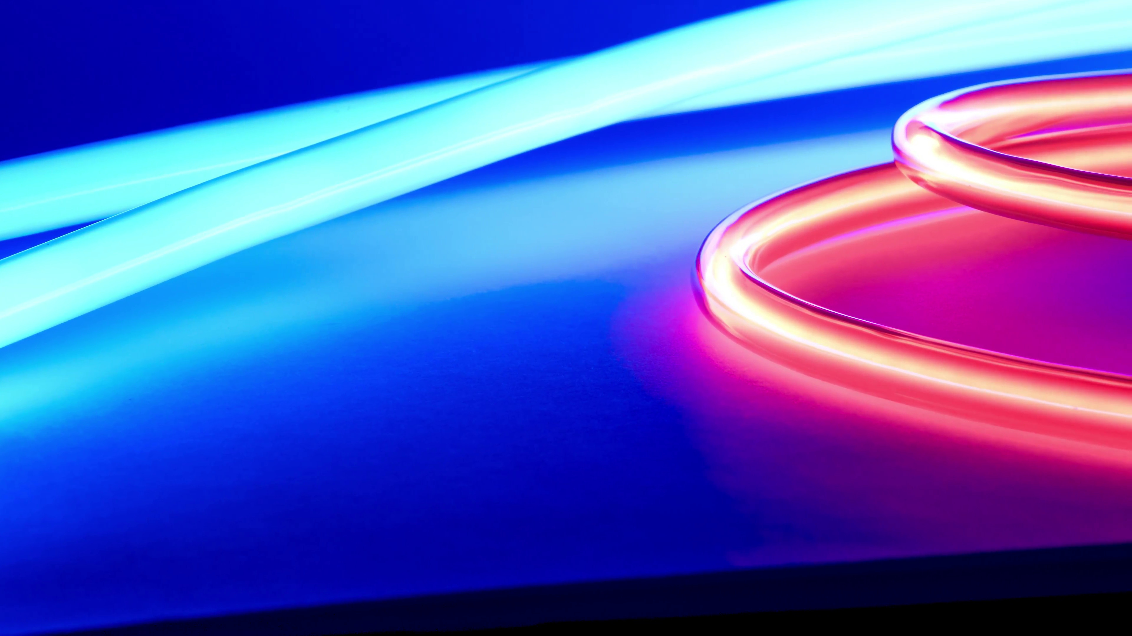 Subscription Library Abstract neon light motion background