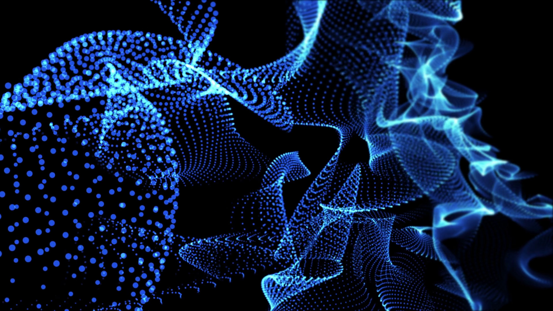 abstract neon background dancing particle loop Blue Motion Background –  VideoBlocks