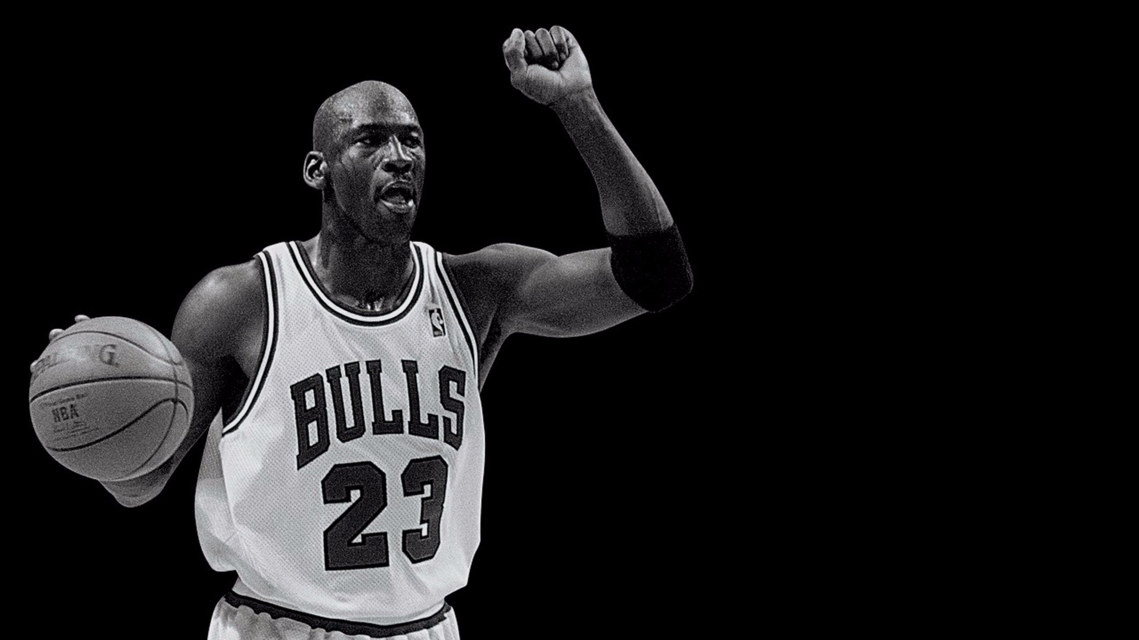 New Black and White Michael Jordan 4K Wallpaper