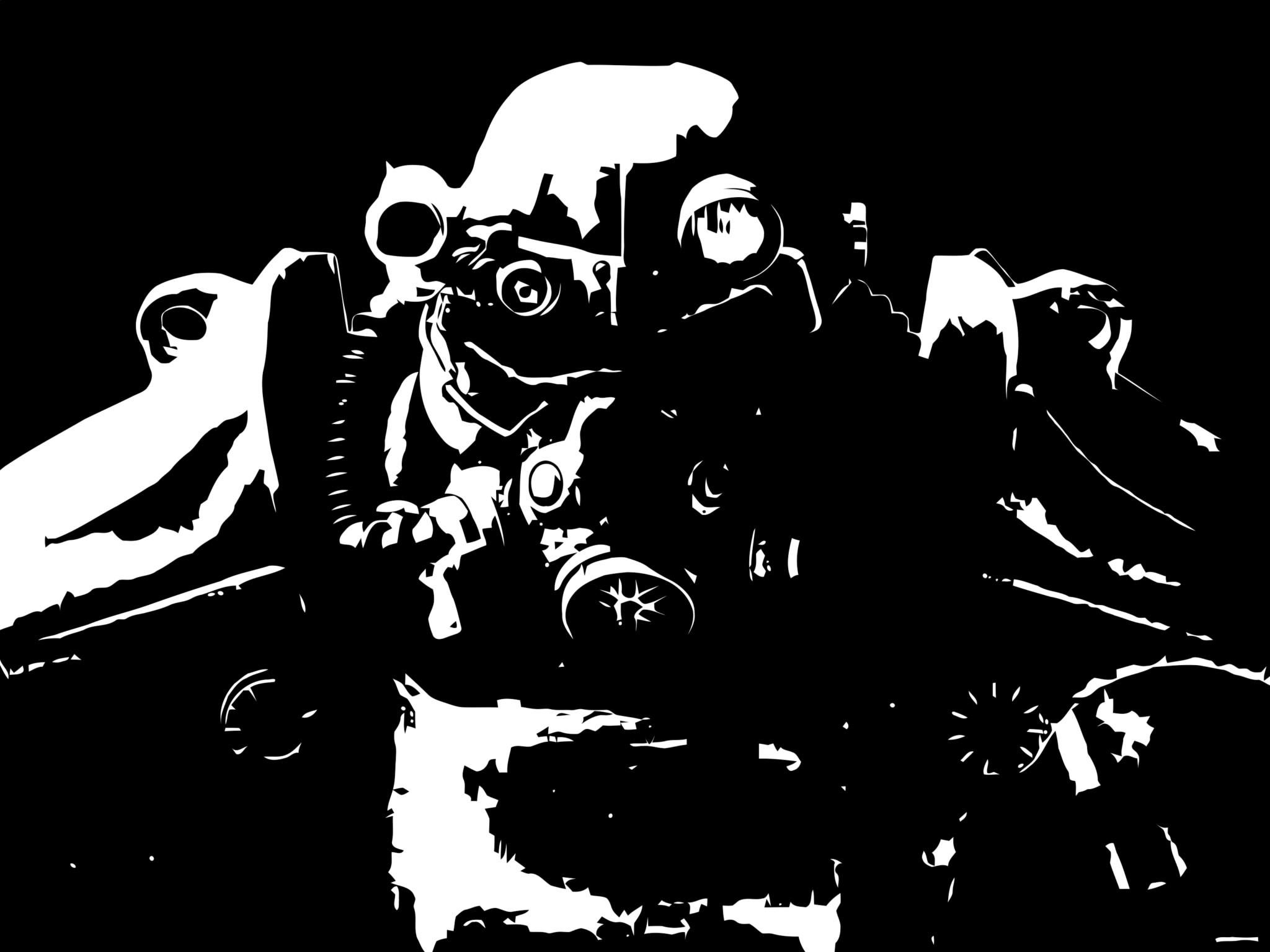 Black White Wallpaper Follout Ultra Hd