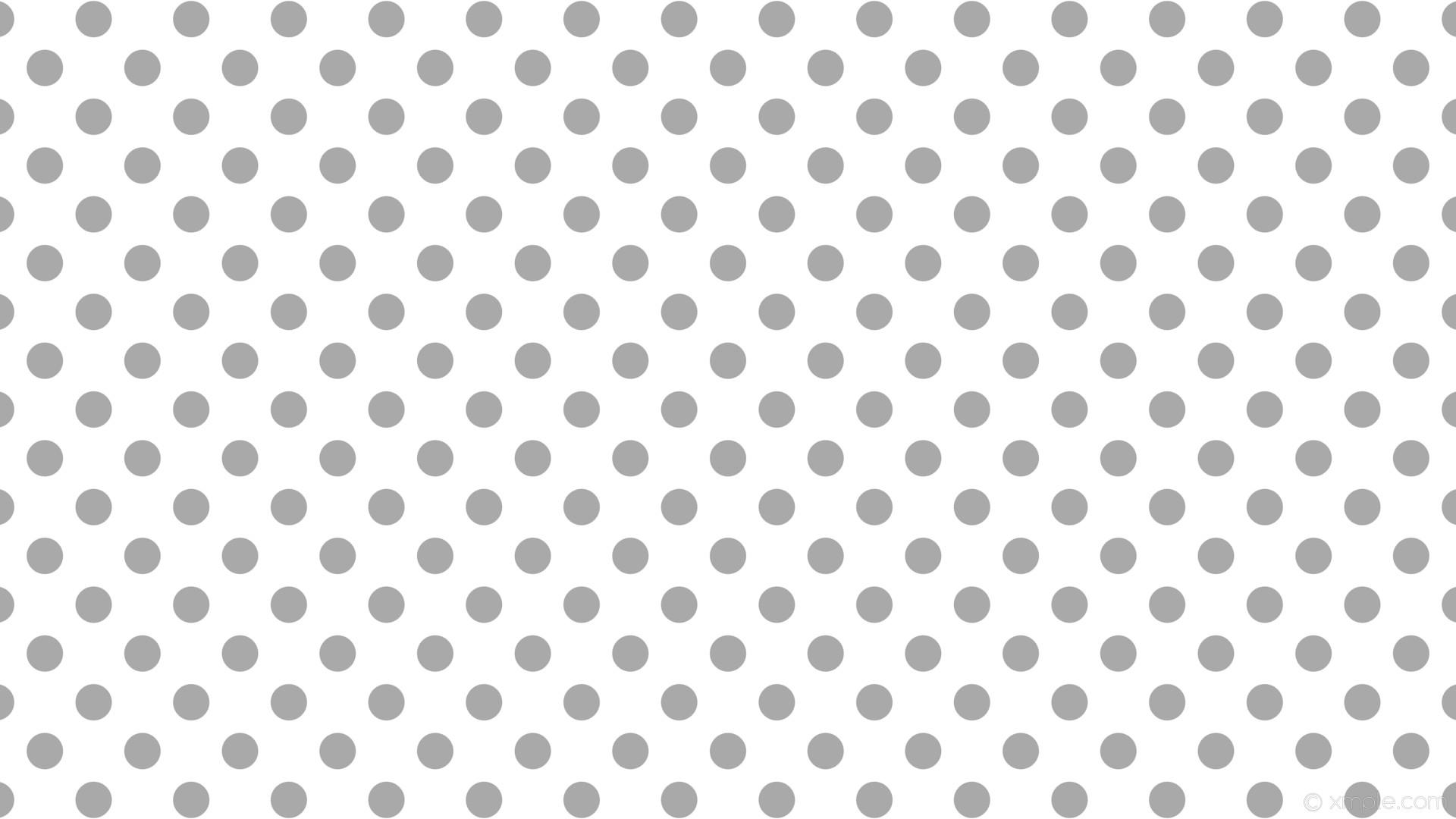 White And Grey Polka Dot Wallpaper
