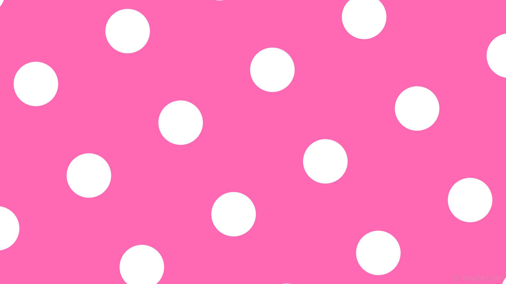 wallpaper polka dots spots pink white hot pink #ff69b4 #ffffff 30° 169px  402px