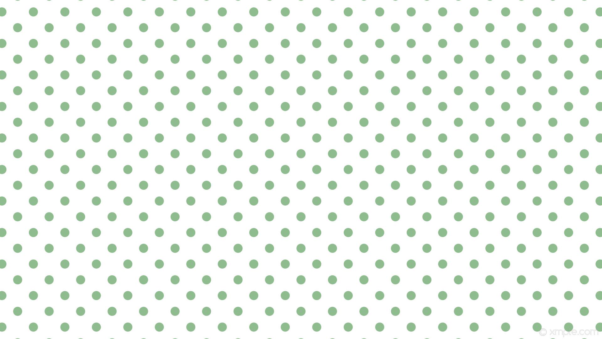 wallpaper white polka dots spots green dark sea green #ffffff #8fbc8f 225°  29px