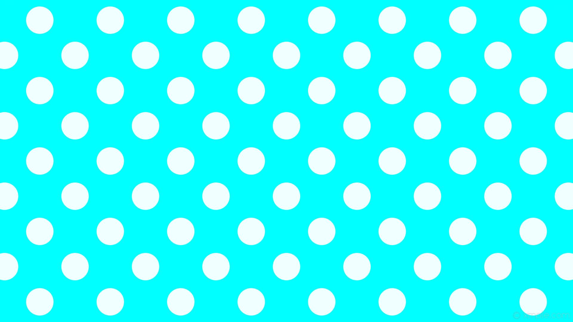 wallpaper dots blue white polka spots aqua cyan azure #00ffff #f0ffff 315°  92px