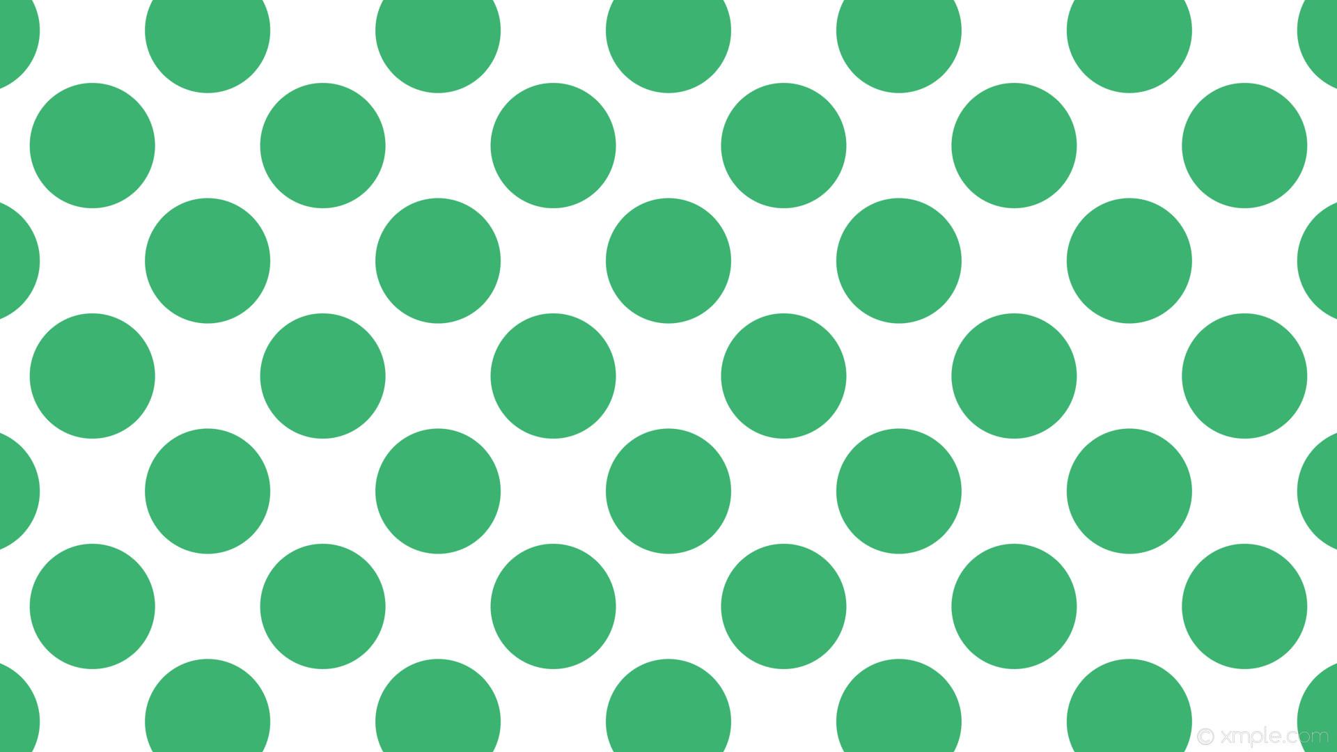 wallpaper white polka dots green spots medium sea green #ffffff #3cb371  135° 180px