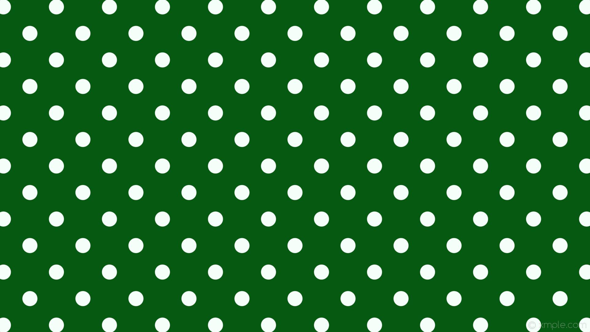 wallpaper spots polka dots green white dark green mint cream #055910  #f5fffa 225°