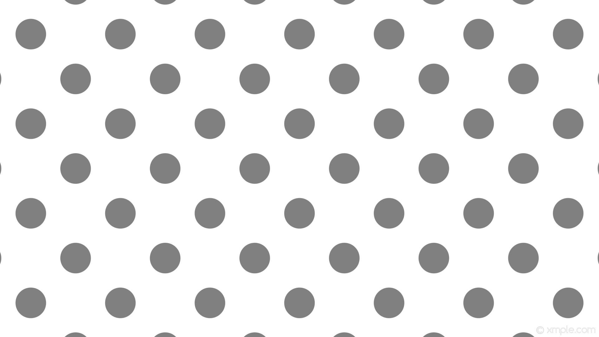 wallpaper white polka dots spots grey gray #ffffff #808080 135° 98px 203px