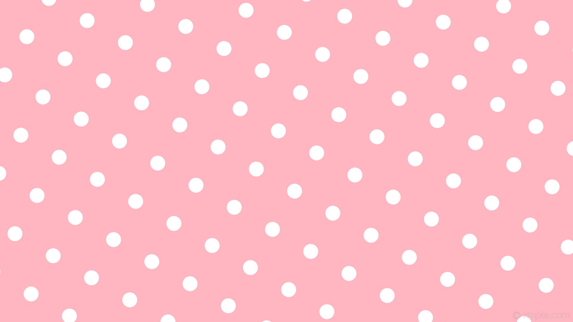 wallpaper pink polka dots spots white light pink #ffb6c1 #ffffff 60° 50px  148px