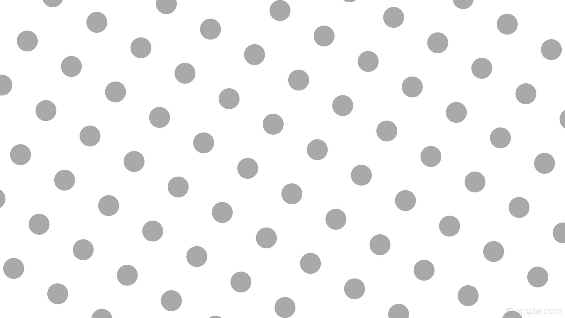wallpaper white polka dots spots grey dark gray #ffffff #a9a9a9 240° 71px  173px
