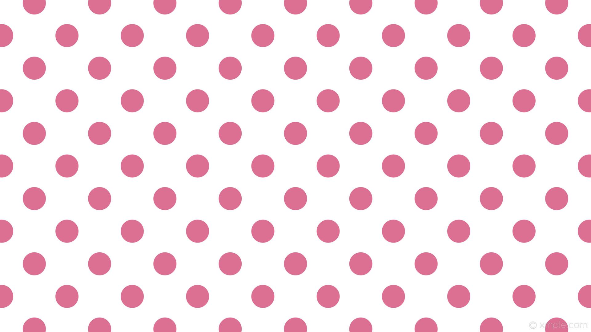 wallpaper white polka dots pink spots pale violet red #ffffff #db7093 315°  75px