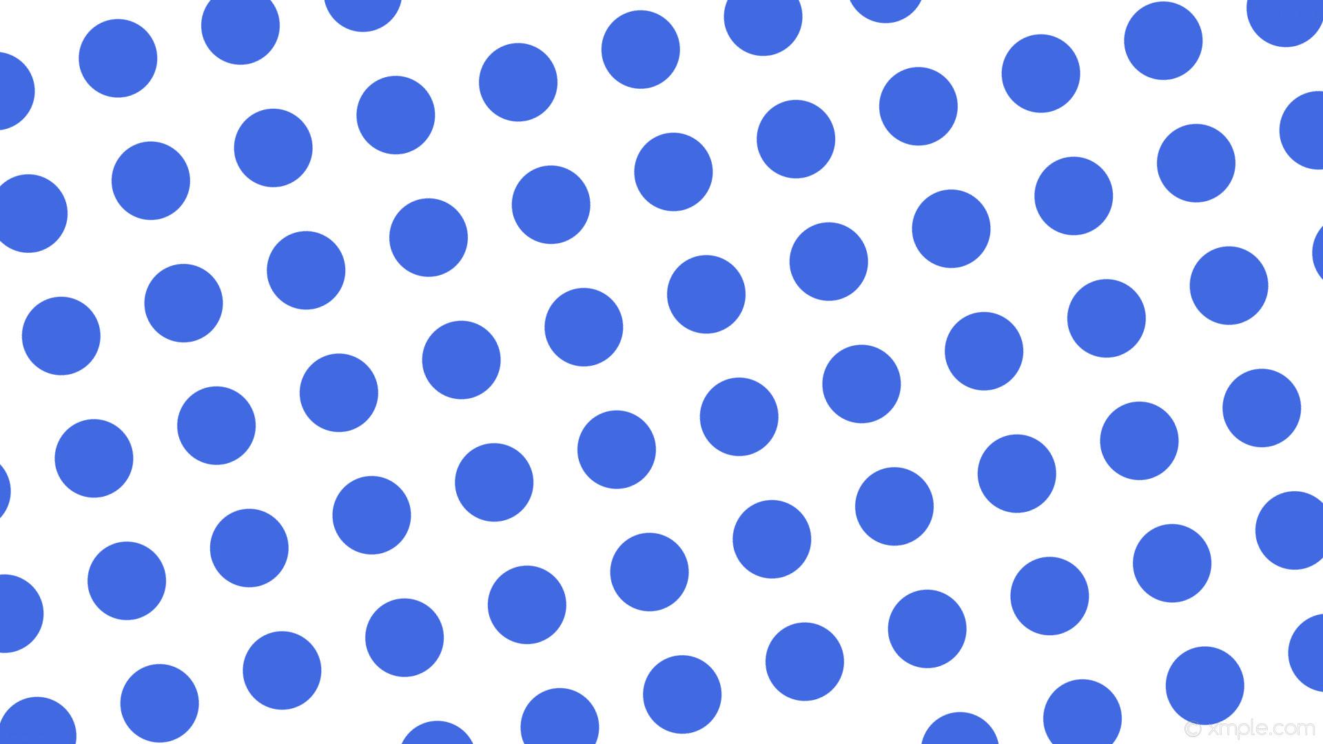 wallpaper white polka dots blue spots royal blue #ffffff #4169e1 285° 114px  184px
