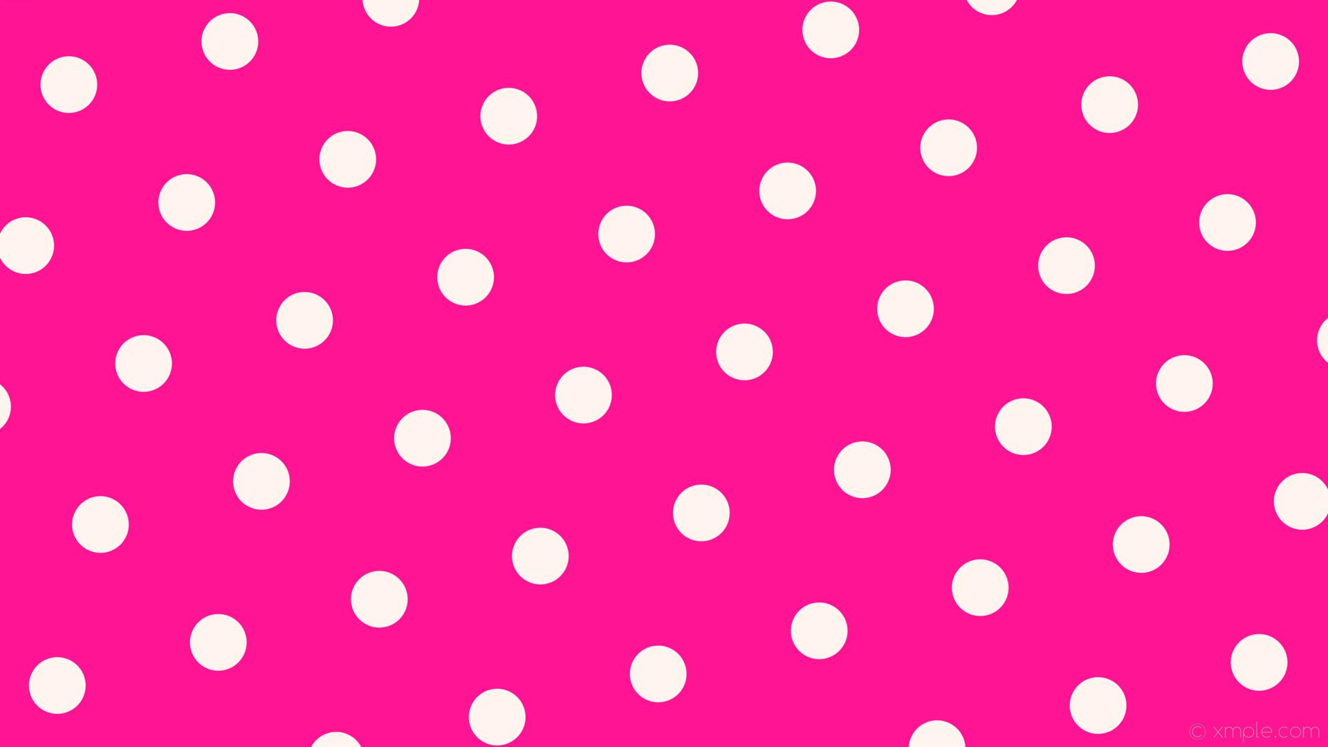 wallpaper white pink polka dots hexagon deep pink seashell #ff1493 #fff5ee  diagonal 15°