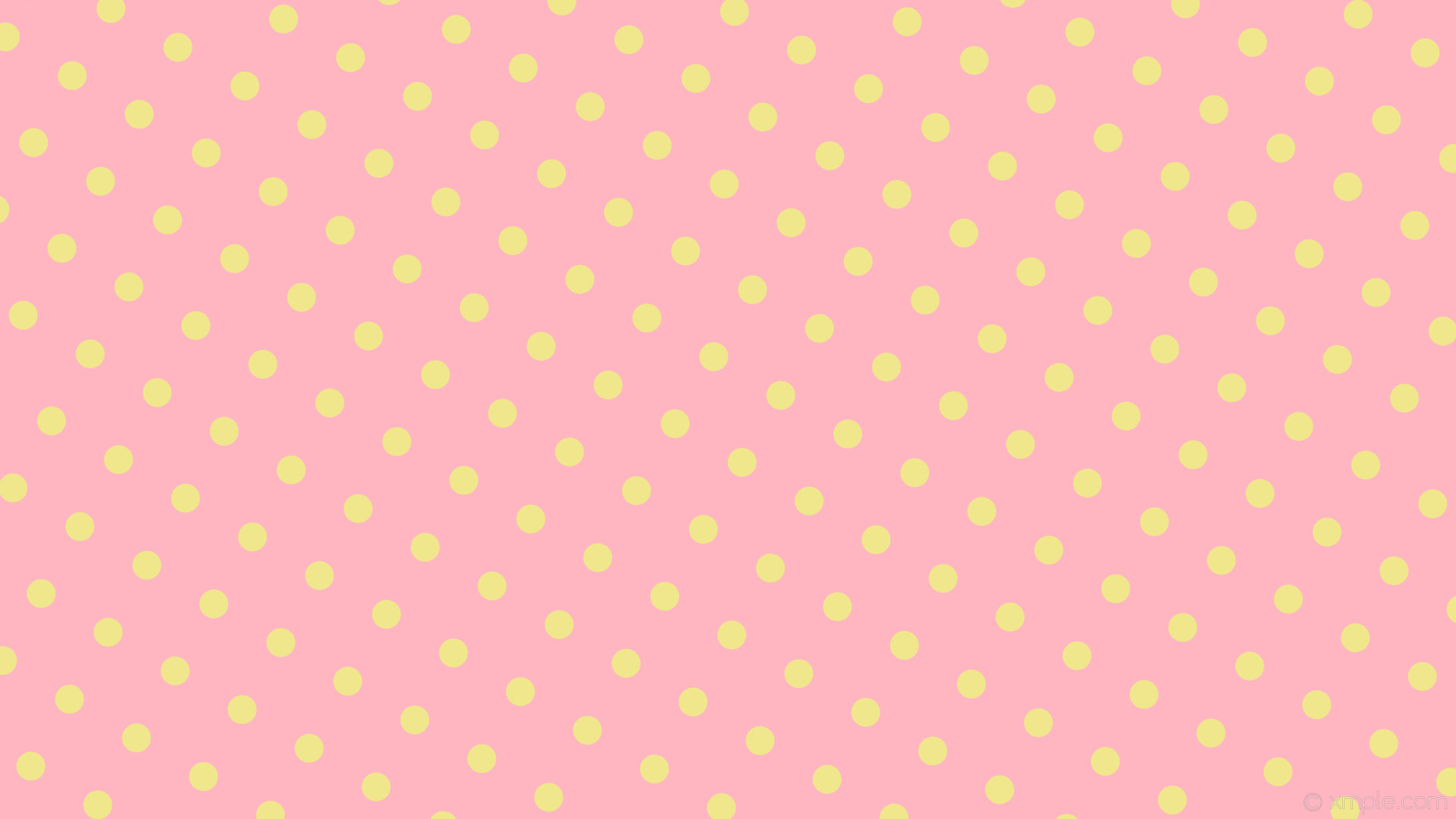 wallpaper pink polka yellow spots dots light pink khaki #ffb6c1 #f0e68c  150° 38px