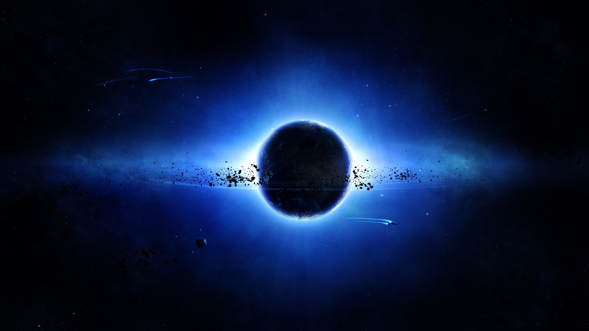 Black And Blue Space Wallpapers   The Art Mad Wallpapers