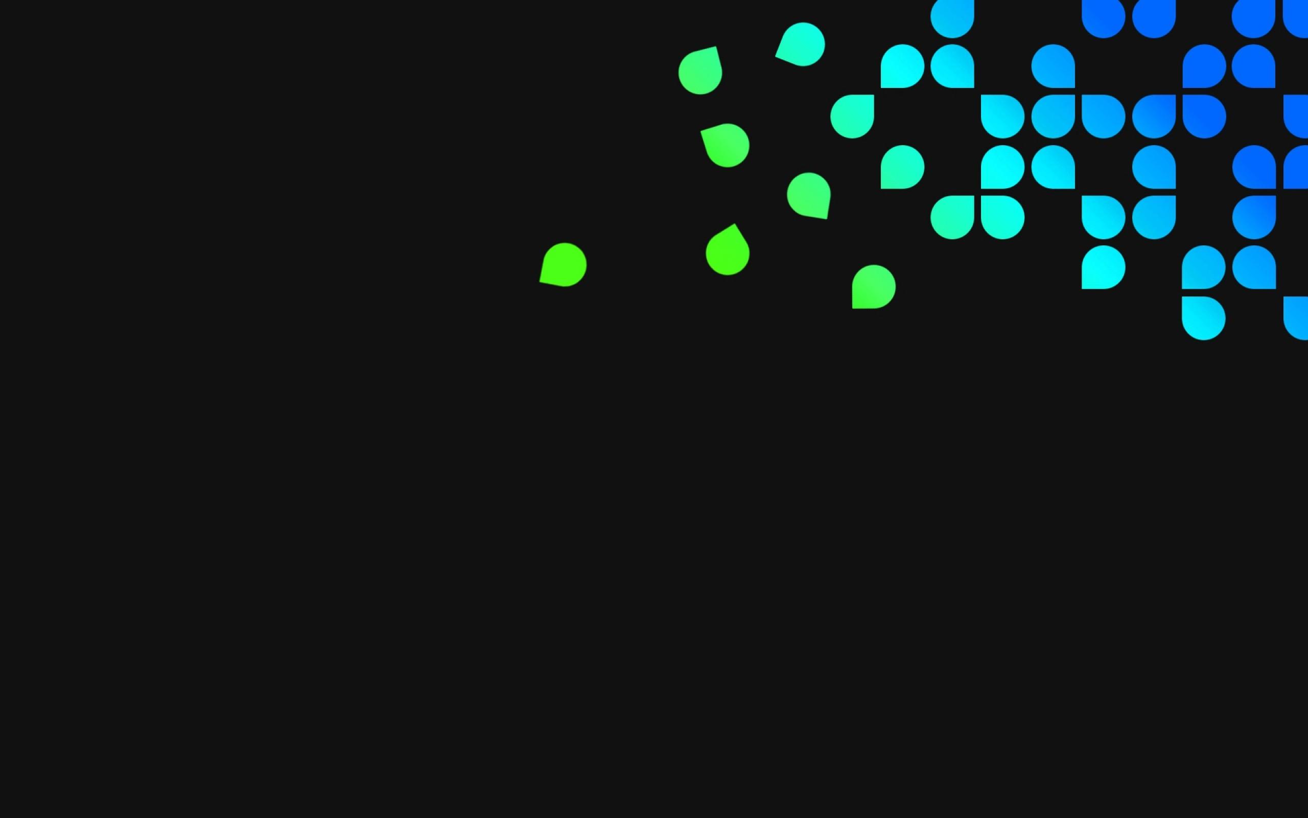 Wallpaper blue, green, black, dots, circles