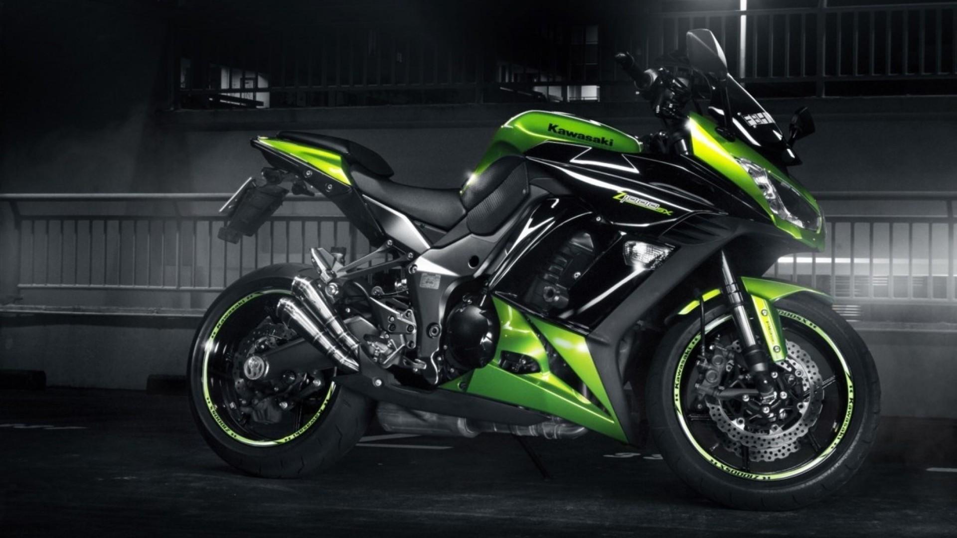 Cool Green Bike Wallpaper