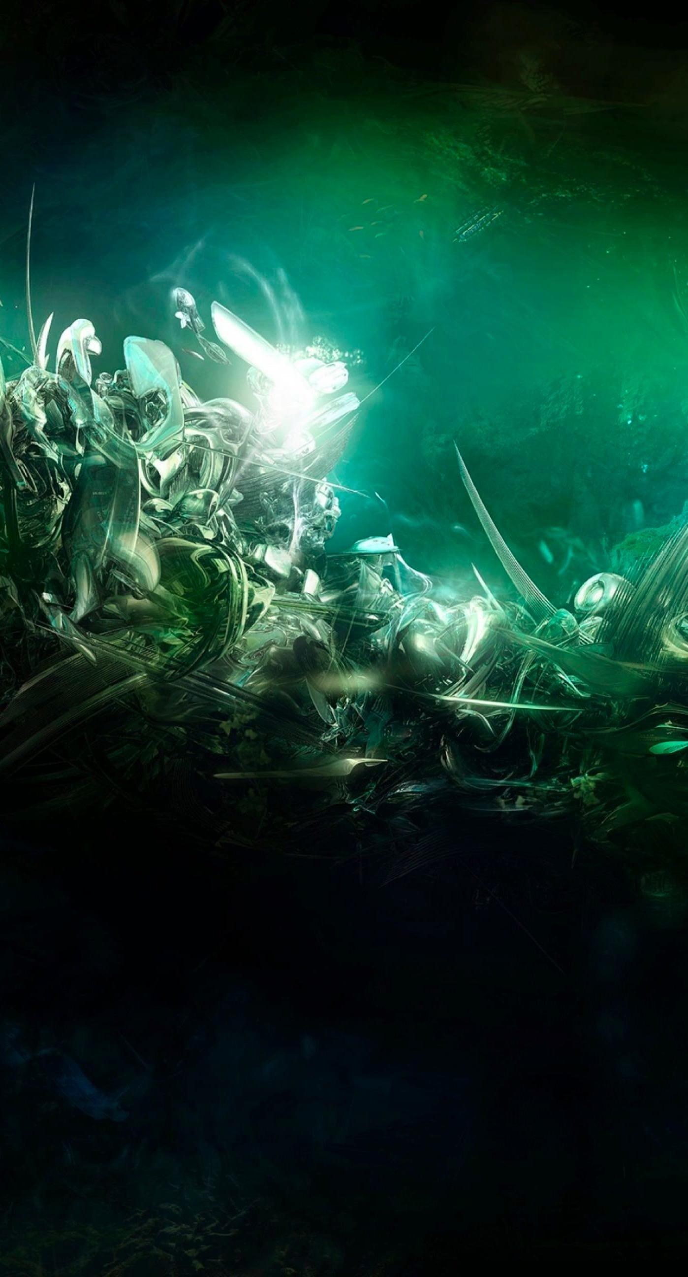 Cool green iPhone7 Plus Wallpaper