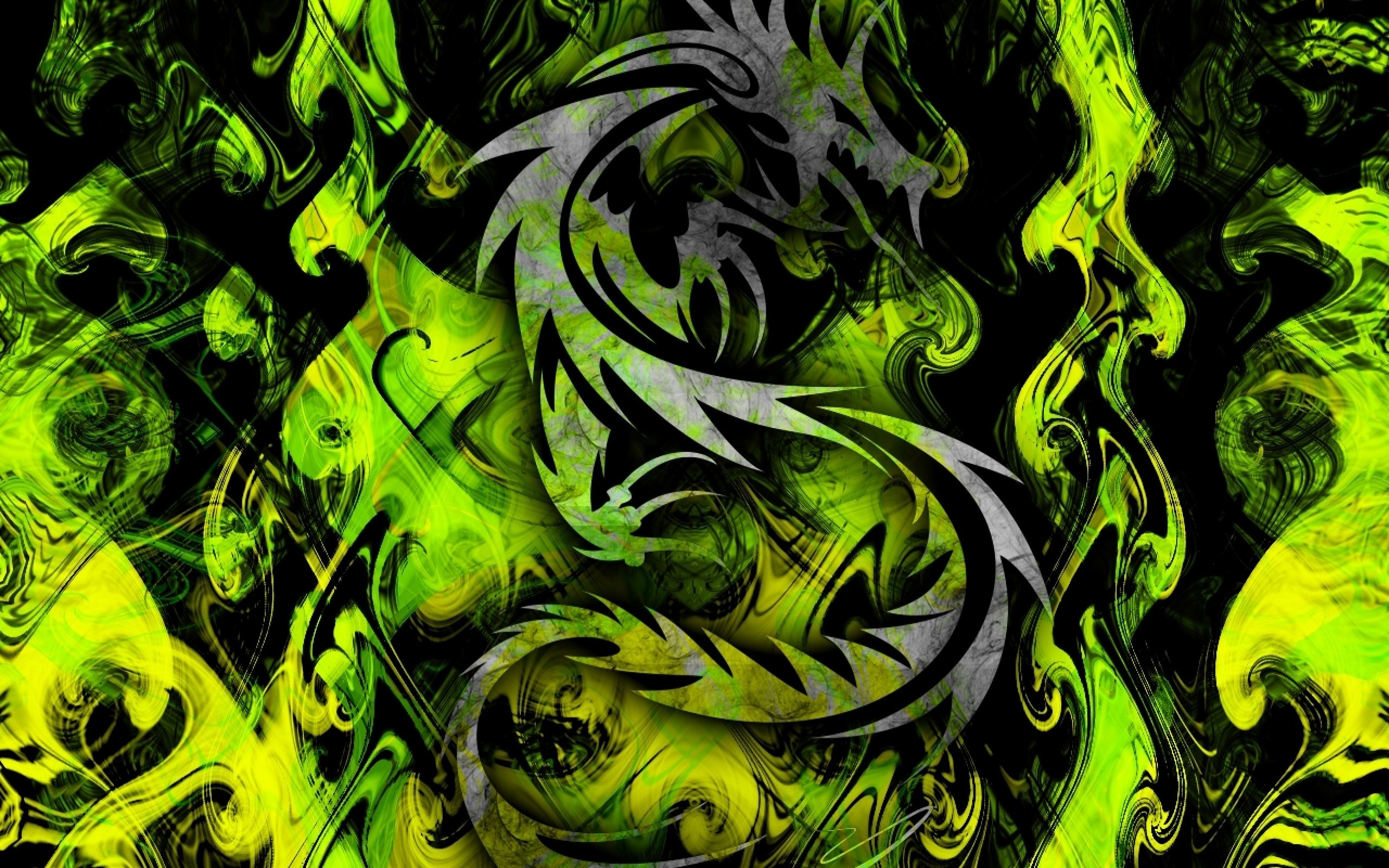 Wallpaper, Abstract, Cool, Ribbons, Color, Green, Images – 1642807