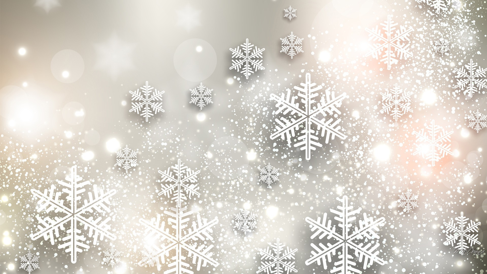 Artistisk – Snowflake Artistisk Snow Bakgrund