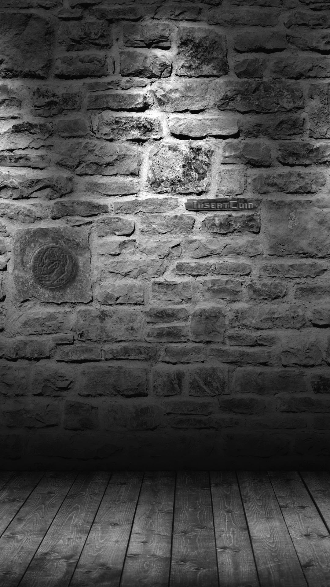 Grey Brick Wall HTC Insert Coin Android Wallpaper …