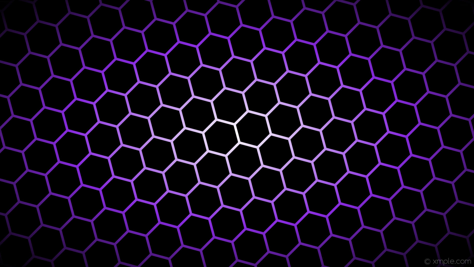 wallpaper black glow hexagon white purple gradient blue violet #000000  #ffffff #8a2be2 diagonal