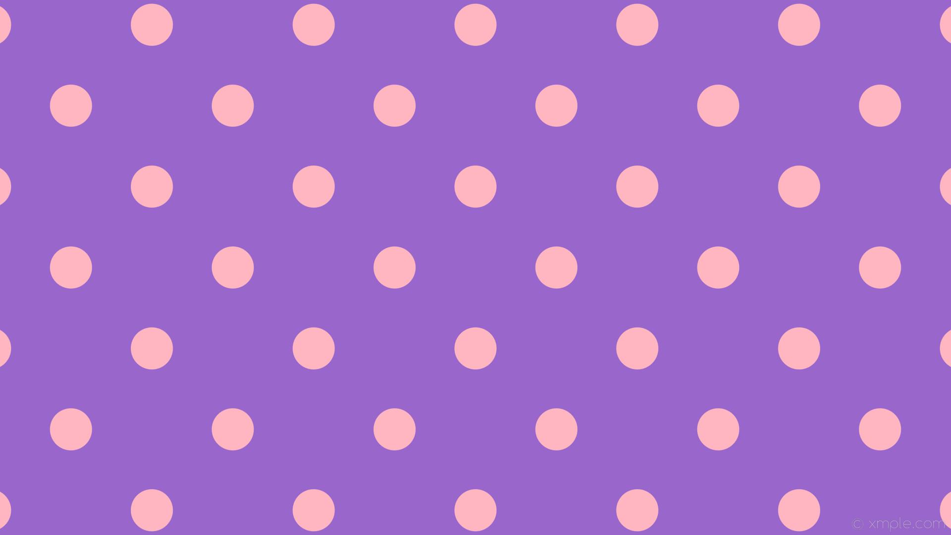 wallpaper purple polka pink dots spots amethyst light pink #9966cc #ffb6c1  225° 85px