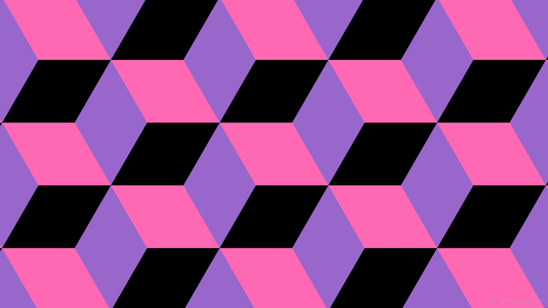 wallpaper 3d cubes purple black pink hot pink amethyst #ff69b4 #9966cc  #000000 150