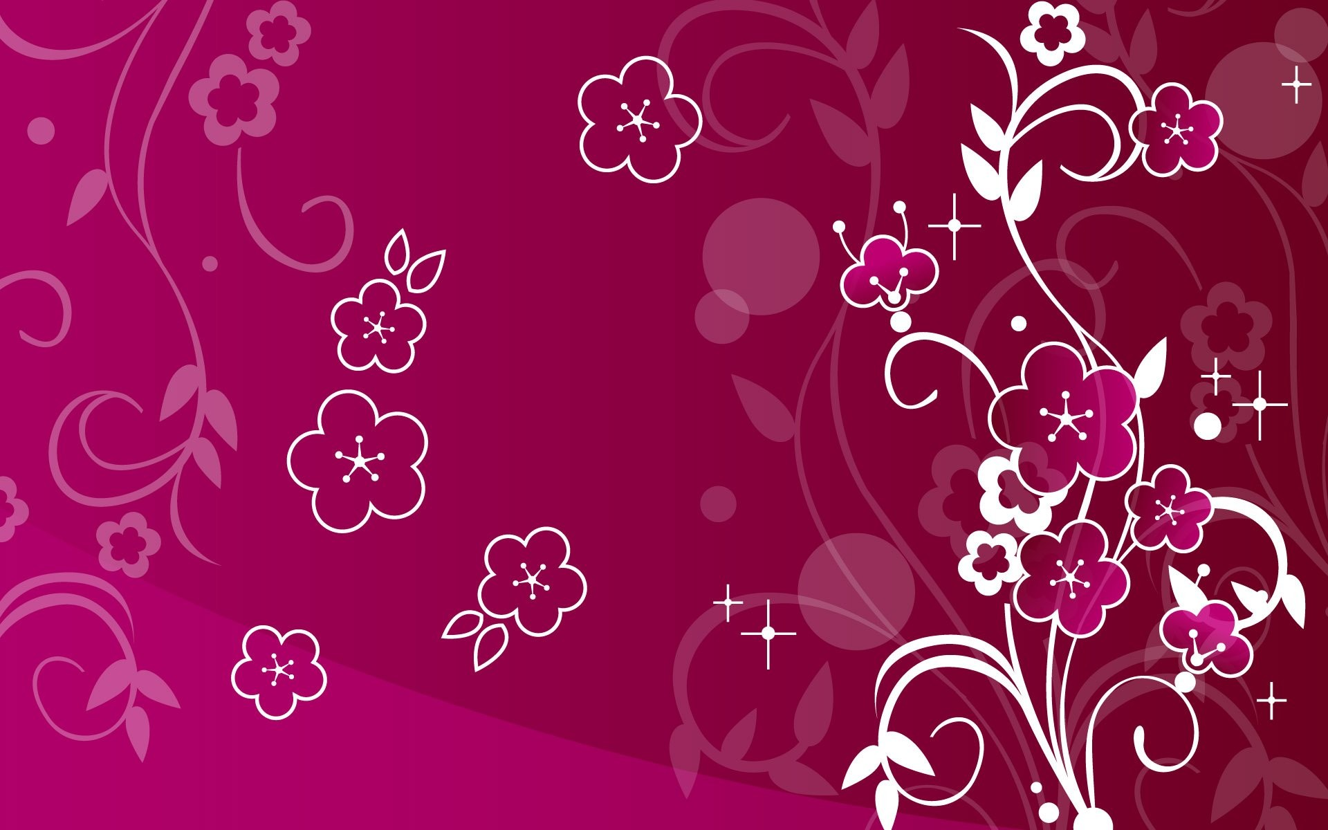 Pink And Purple Flower Wallpaper