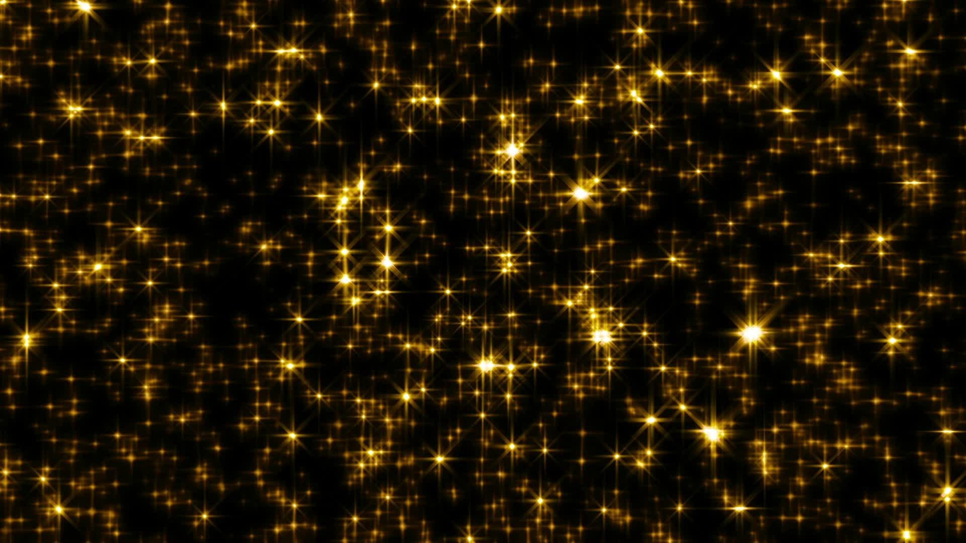 Golden Glitter Star Light Brighter Stars Loop Stock Video 12660111 .