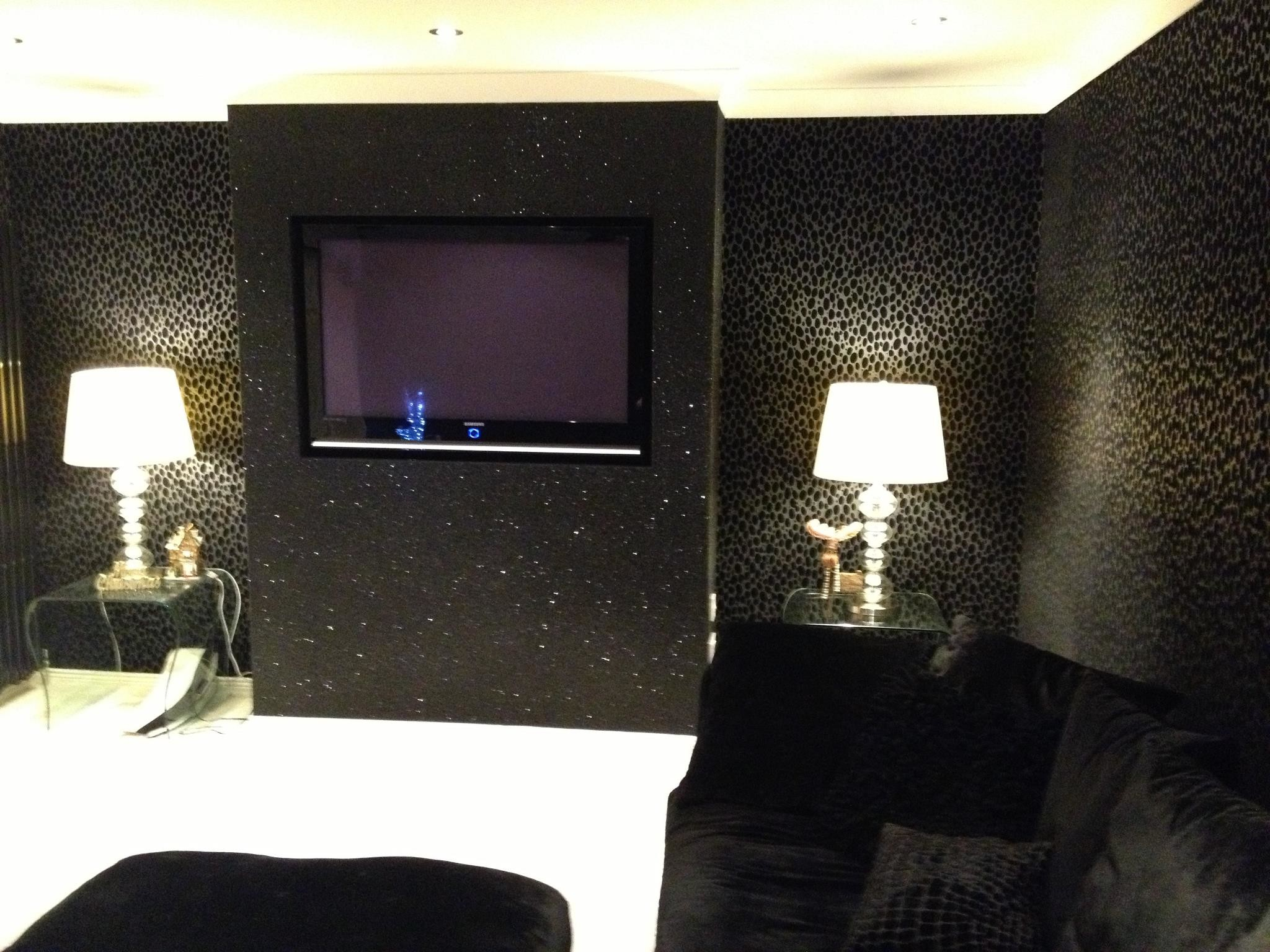 Black Glitter with Animal print wallpaper …