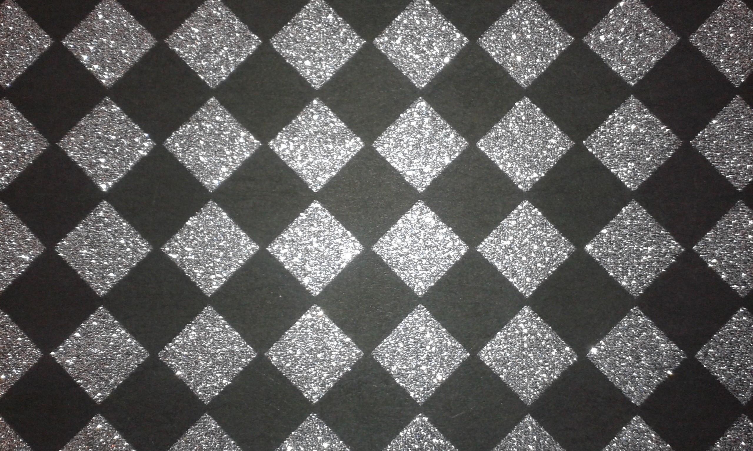 Silver Diamond Glitter Wallpaper Visual Merchandising Decorative Fabric &  Wallcoverings for Retail, Window Display,