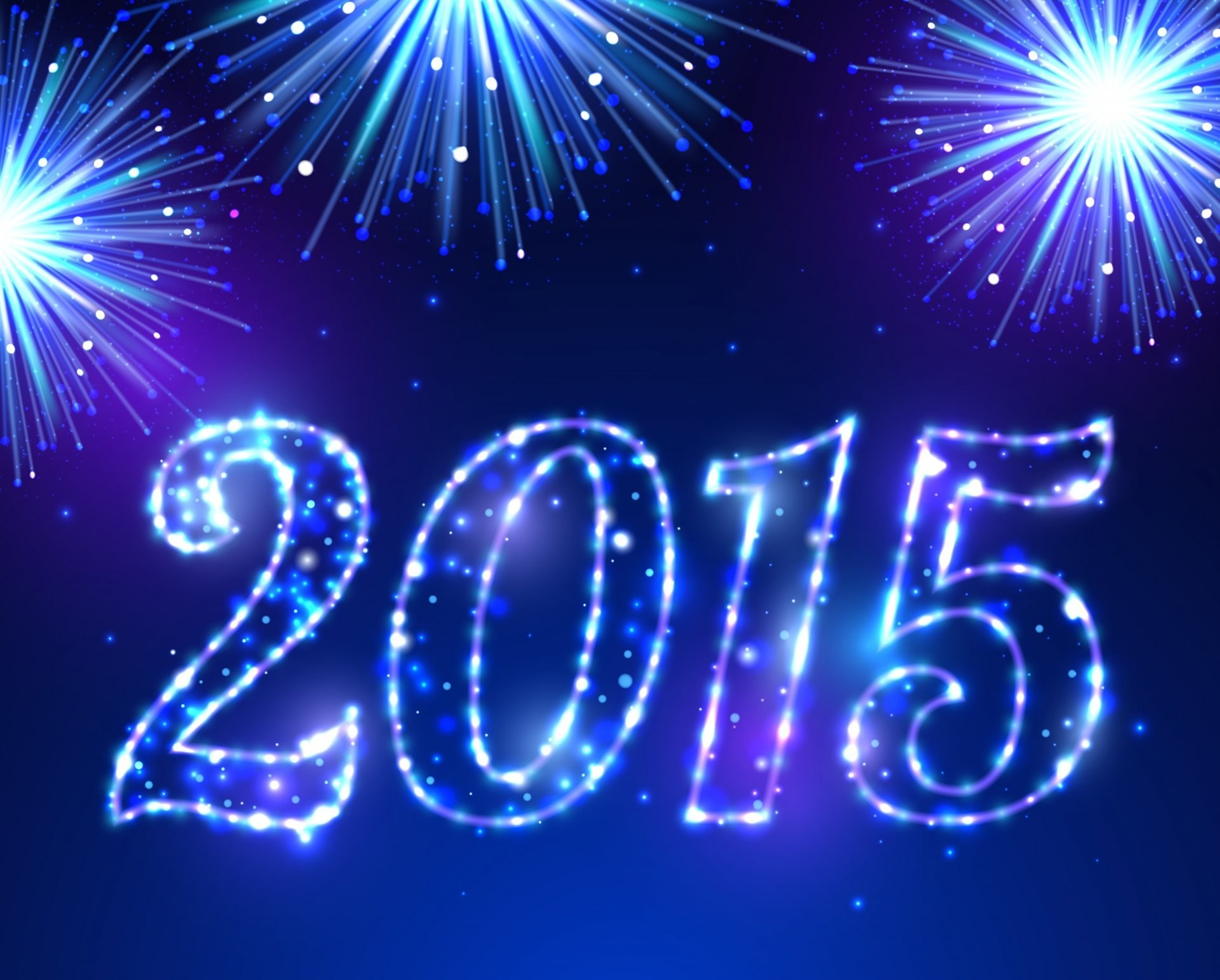 happy new year 2015 blue sparkle fireworks new year salute