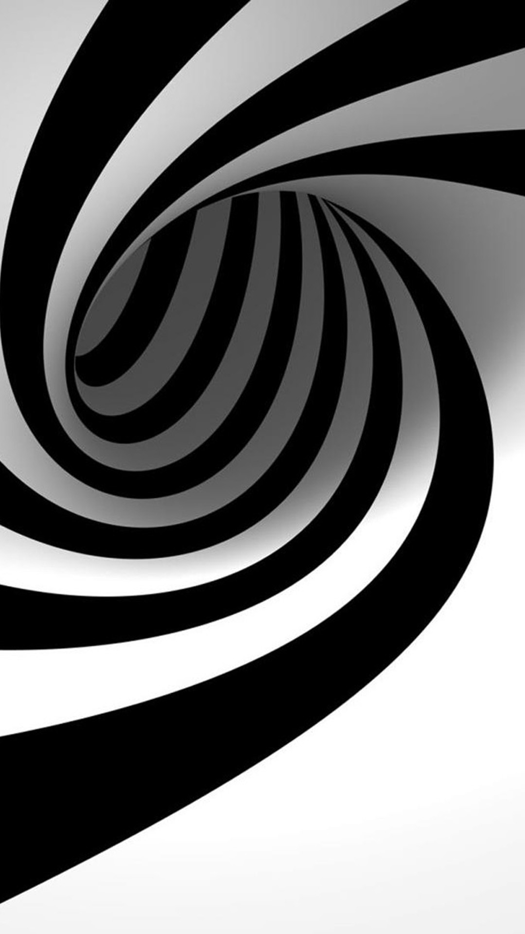 3D Black And White Swirl iPhone 8 wallpaper