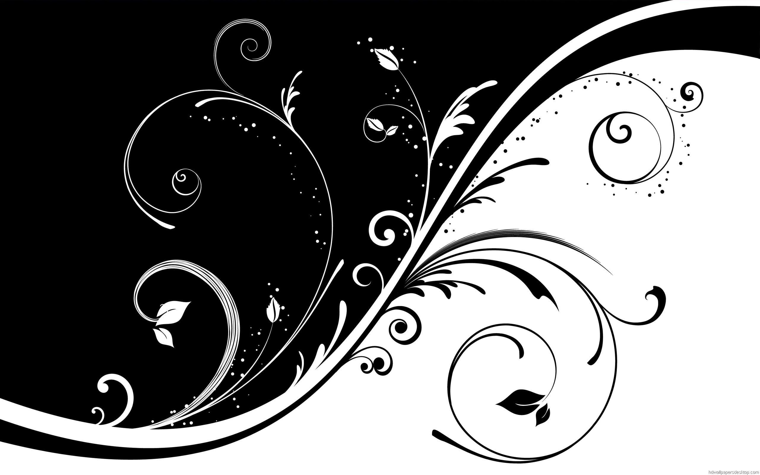 Black and White Swirl Wallpaper 2560×1600