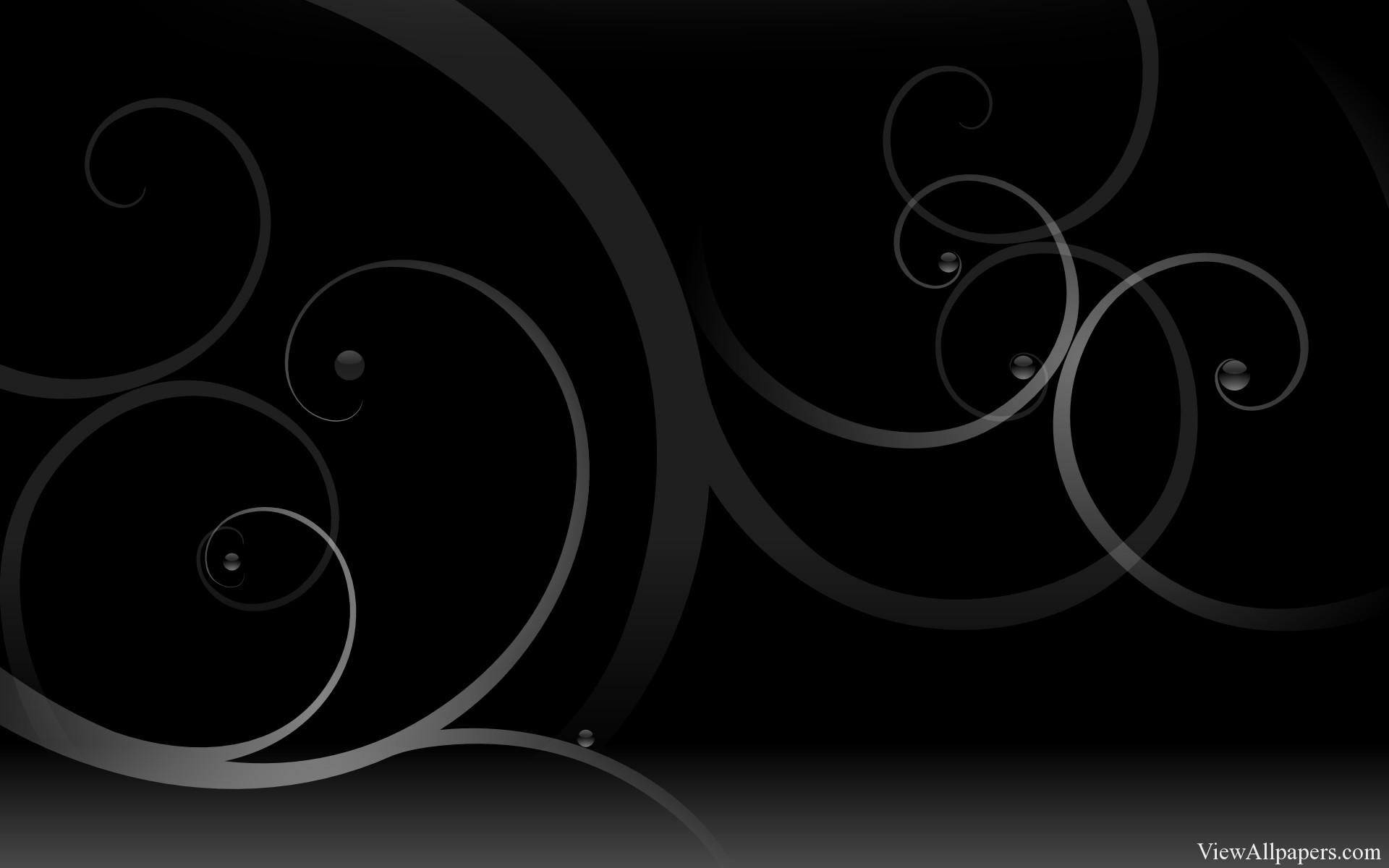 Swirls On Black